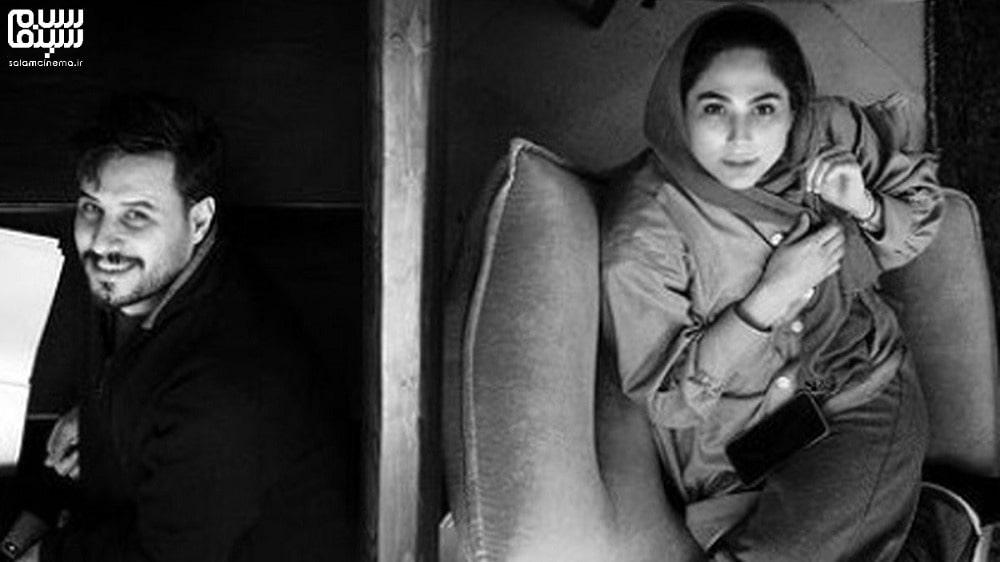 جواد عزتی و رعنا آزادی ور در پشت صحنه در حال استراحت- بهترین دیالوگ های سریال زخم کاری