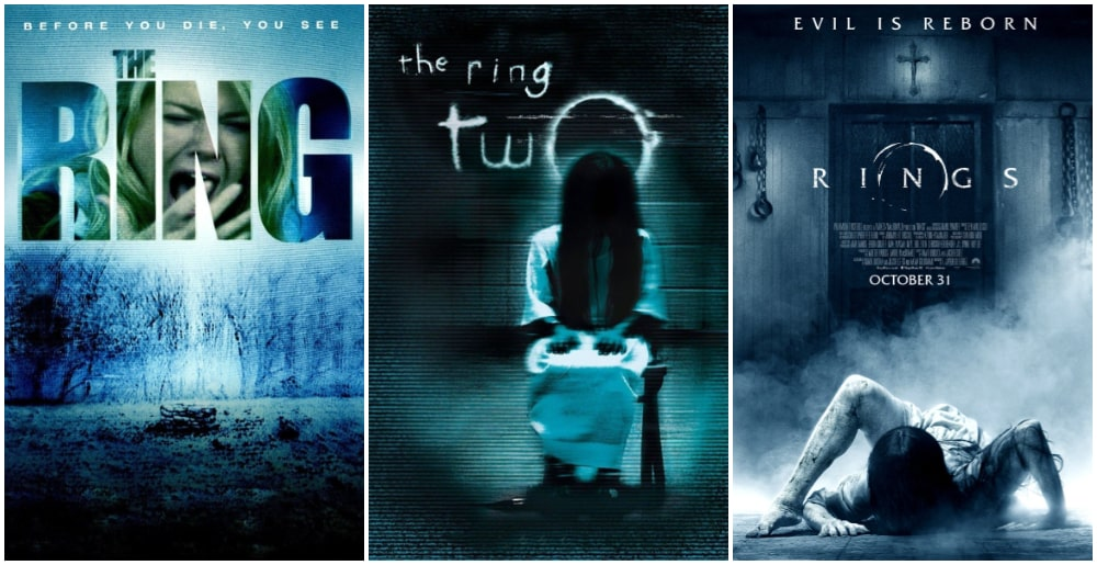 ترسناک ترین فیلم های جنی و روحی - پوستر سری فیلم های حلقه (The ring)