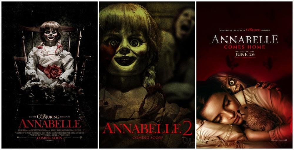 ترسناک ترین فیلم های جنی و روحی - پوستر سری فیلم های آنابل (annabelle)