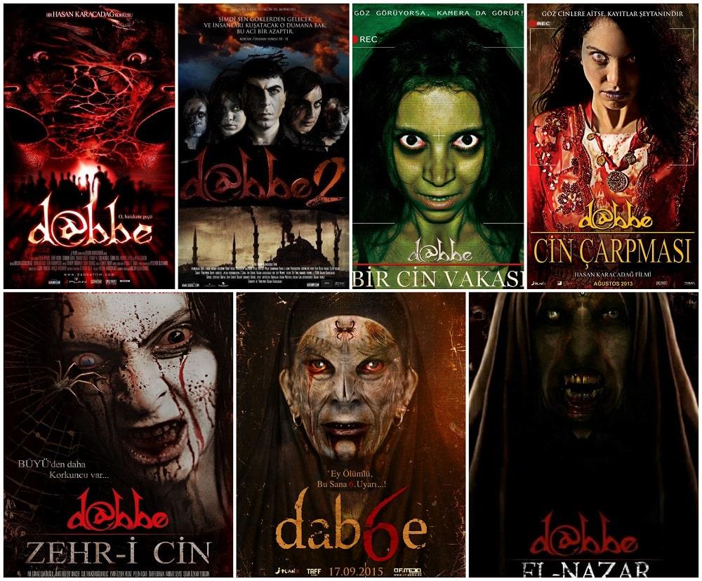 ترسناک ترین فیلم های جنی و روحی - پوستر سری فیلم های دابه (Dabbe)