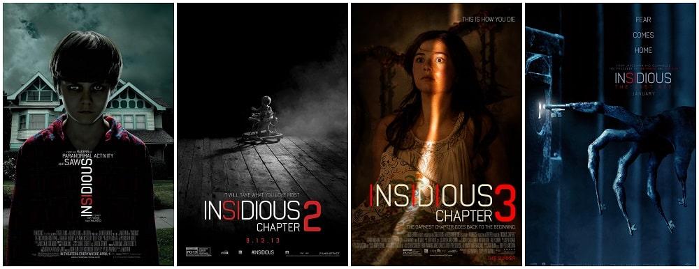 ترسناک ترین فیلم های جنی و روحی - پوستر سری فیلم های توطئه آمیز (insidious)