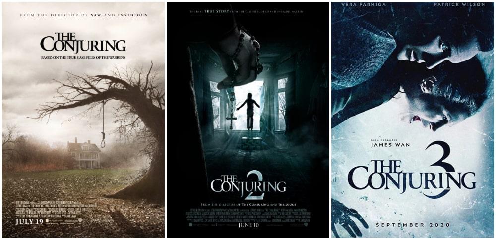 ترسناک ترین فیلم های جنی و روحی - پوستر سری فیلم های احضار روح