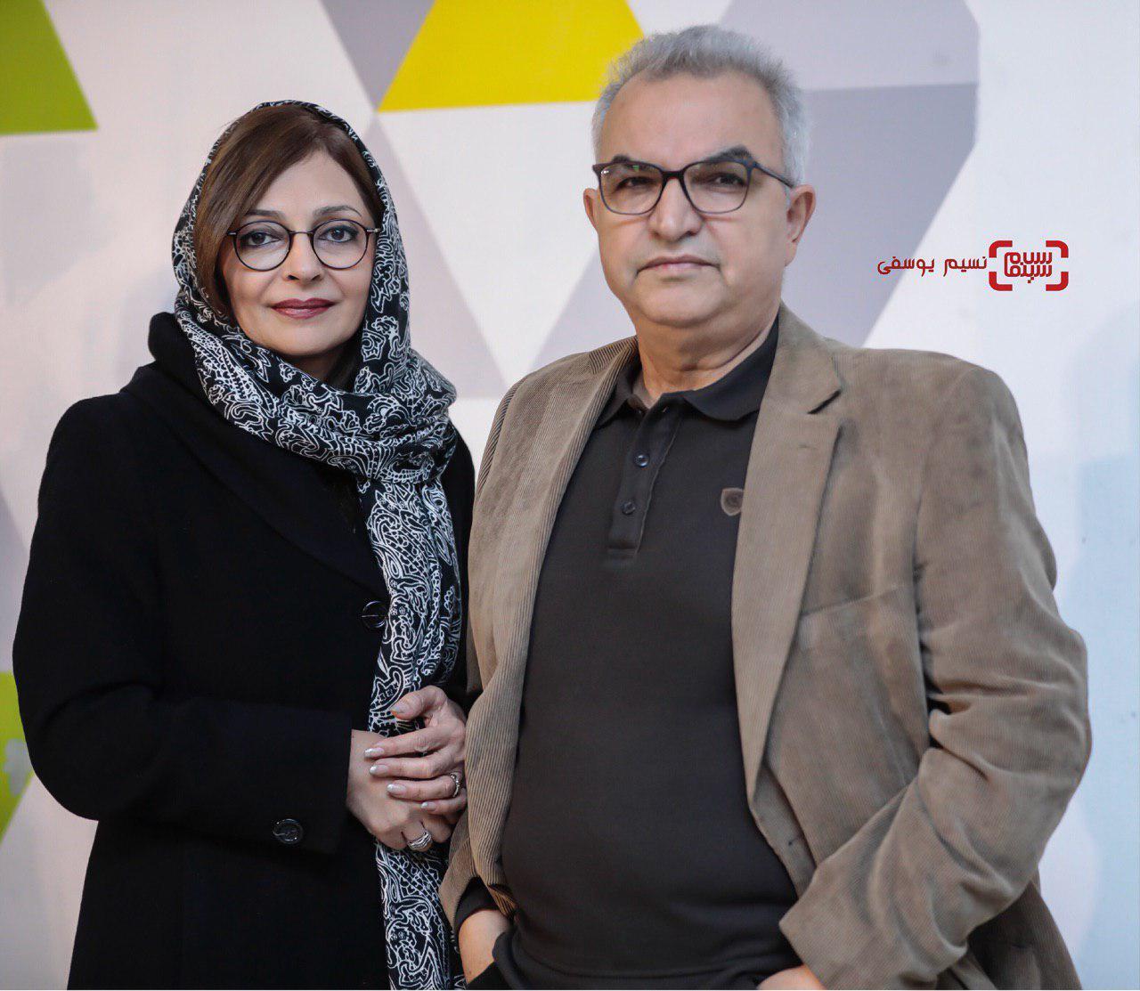 ابوالحسن داوودیو همسرشبیتا منصوریاکران خصوصی فیلم «پارادایس»/ گزارش تصویری