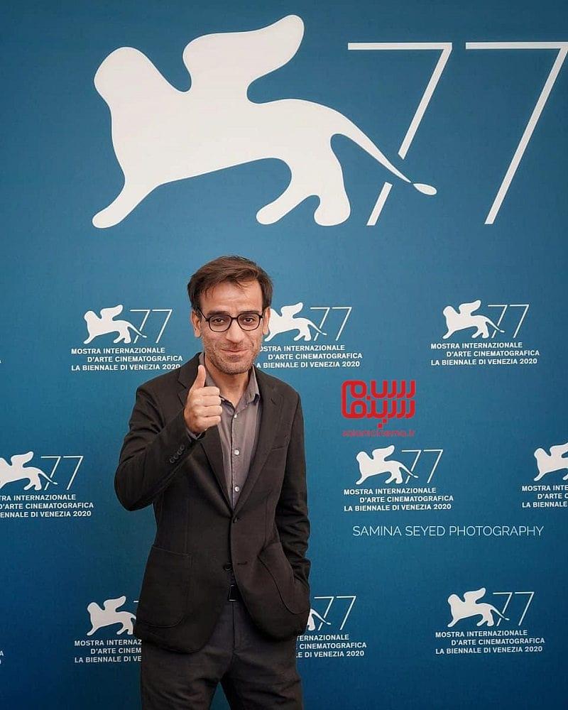 شهرام مکری در مراسم اکران فیلم سینمایی «جنایت بی دقت» در جشنواره فیلم ونیز 2020