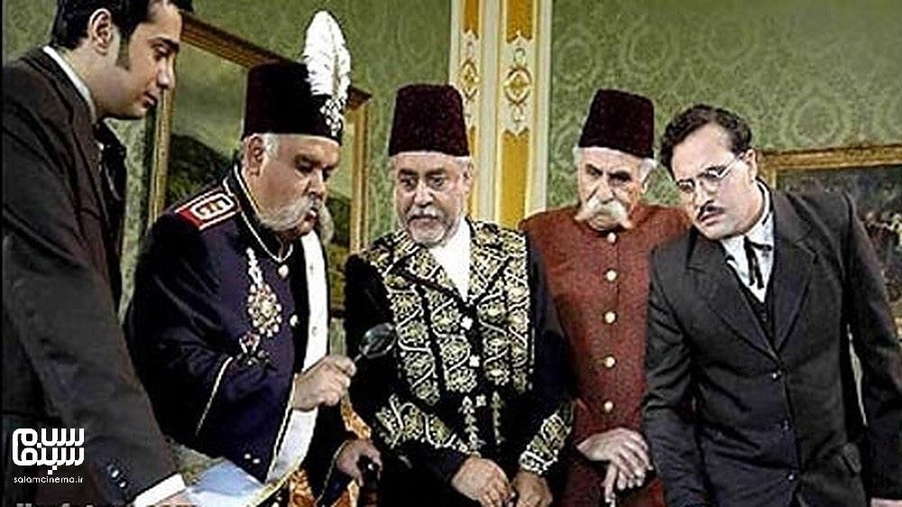 اکبرعبدی در لباس شاه قاجار- به مناسبت روز جهانی سالمند- کاراکترهای شیرین و بامزه ینمای ایران