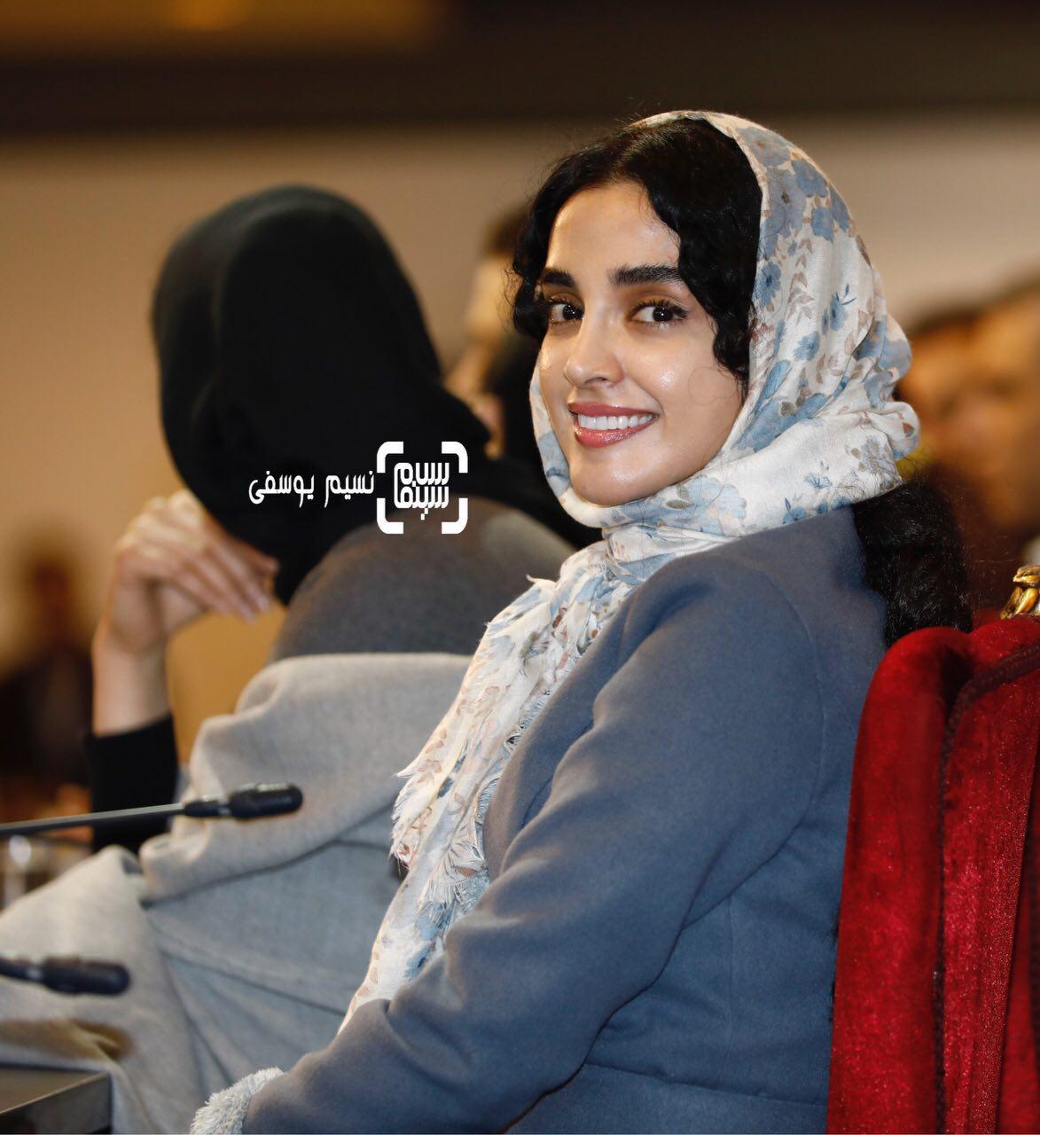 الهه حصاری در نشست خبری فیلم «هایلایت» در سی و ششمین جشنواره فیلم فجر