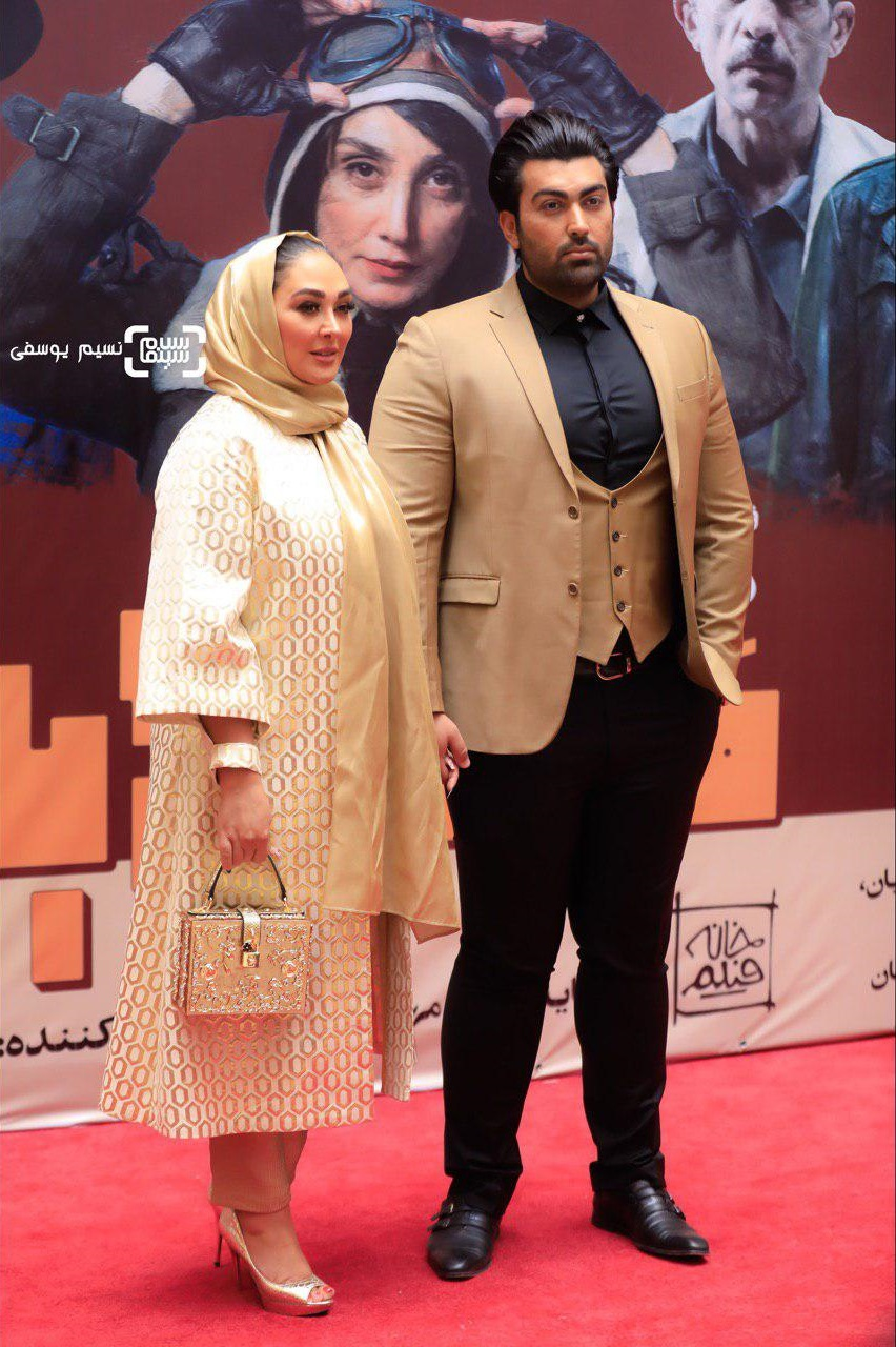 الهام حمیدی و همسرش / اکران خصوصی فیلم «مسخره باز»/ گزارش تصویری
