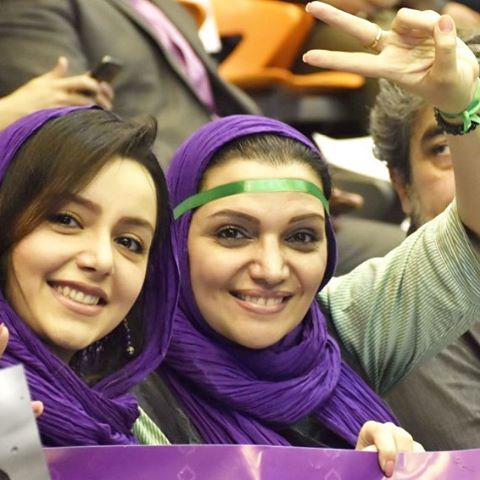 حمایت الهام پاوه نژاد و نازنین بیاتی از حسن روحانی در انتخابات ریاست جمهوری 96