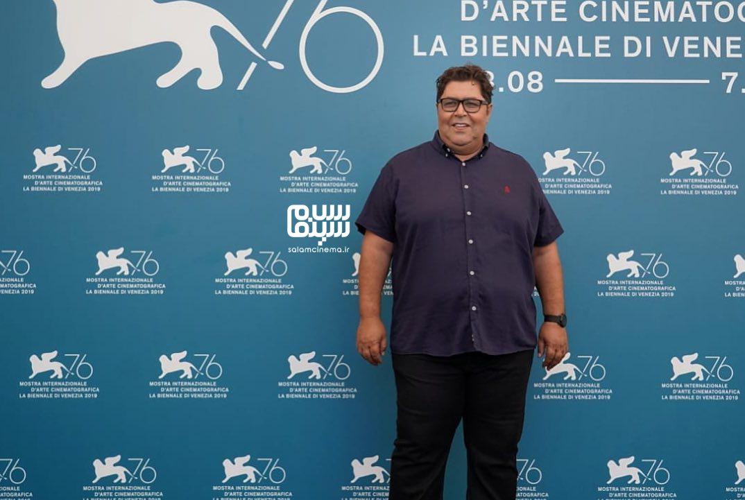 عکس فرهاد اصلانی در فتوکال «متری شیش و نیم» در جشنواره ونیز 2019
