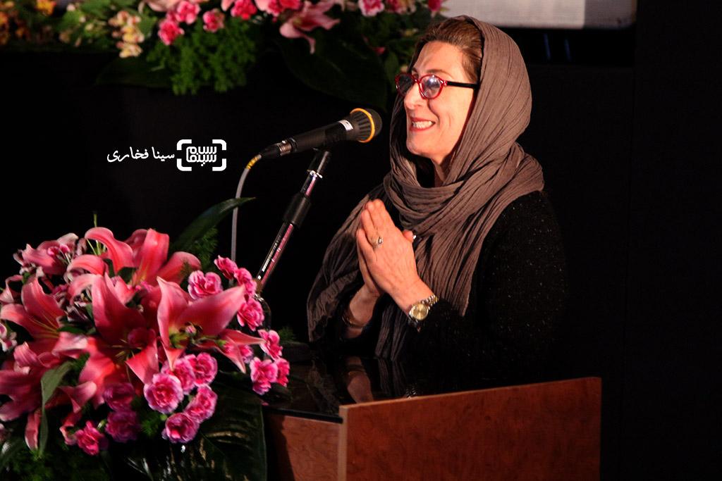فاطمه معتمدآریا در مراسم تقدیر از اصغر فرهادی