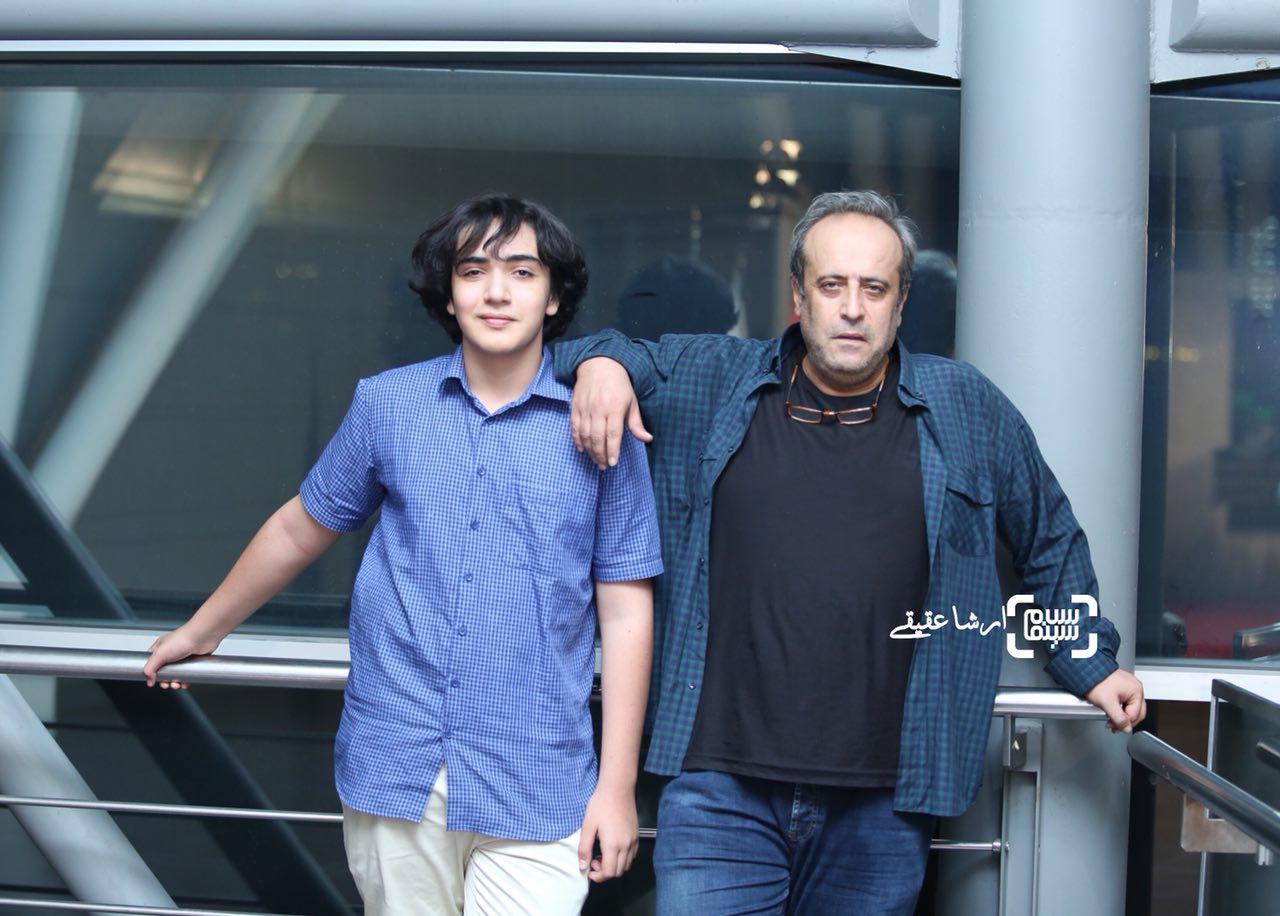 حمید نعمت الله و پسرش بامداد نعمت الله در سی و چهارمین جشنواره فیلم کوتاه تهران