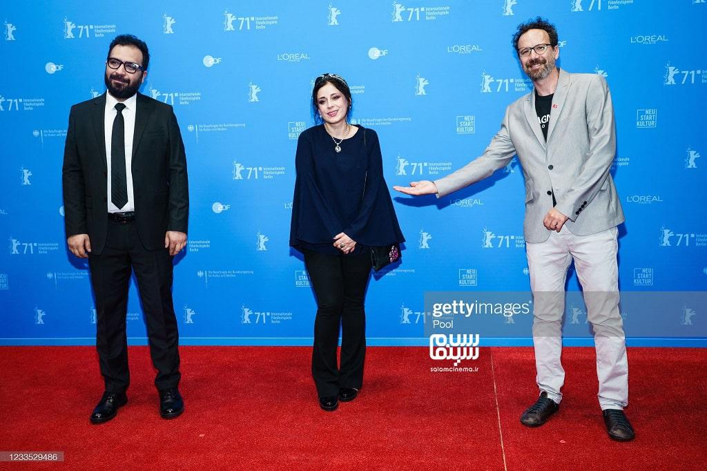 مریم مقدم و بهتاش صناعی ها در اکران قصیده گاو سفید در جشنواره فیلم برلین