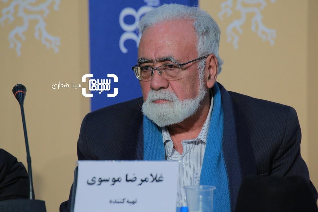 غلامرضا موسوی - نشست خبری فیلم «قصیده گاو سفید» در جشنواره فجر 38