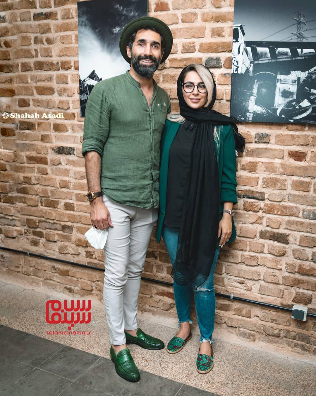 هادی کاظمی و همسرش سمانه پاکدل - افتتاحیه نمایشگاه عکس برزخ