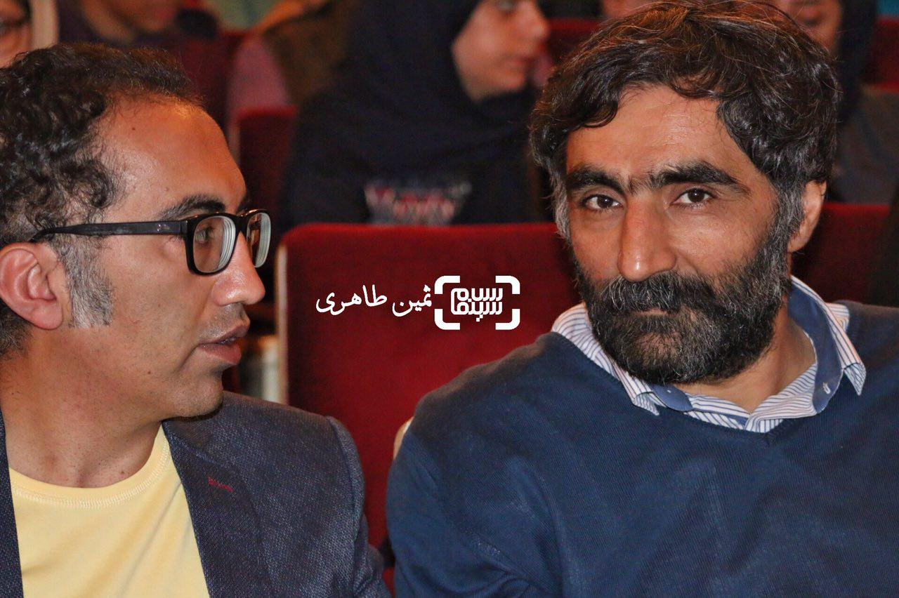 عکس هادی مقدم دوست در نکوداشت رامبد جوان در جشنواره سما