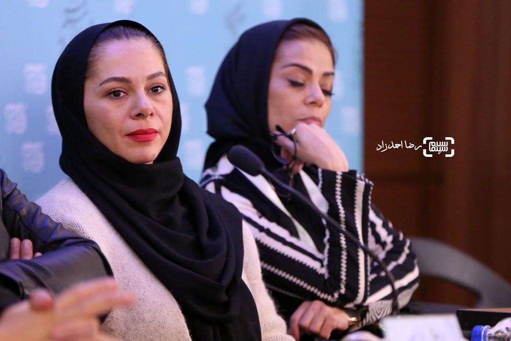 هایده صفی یاری در نشست خبری فیلم «خانه دیگری» در جشنواره فیلم فجر35