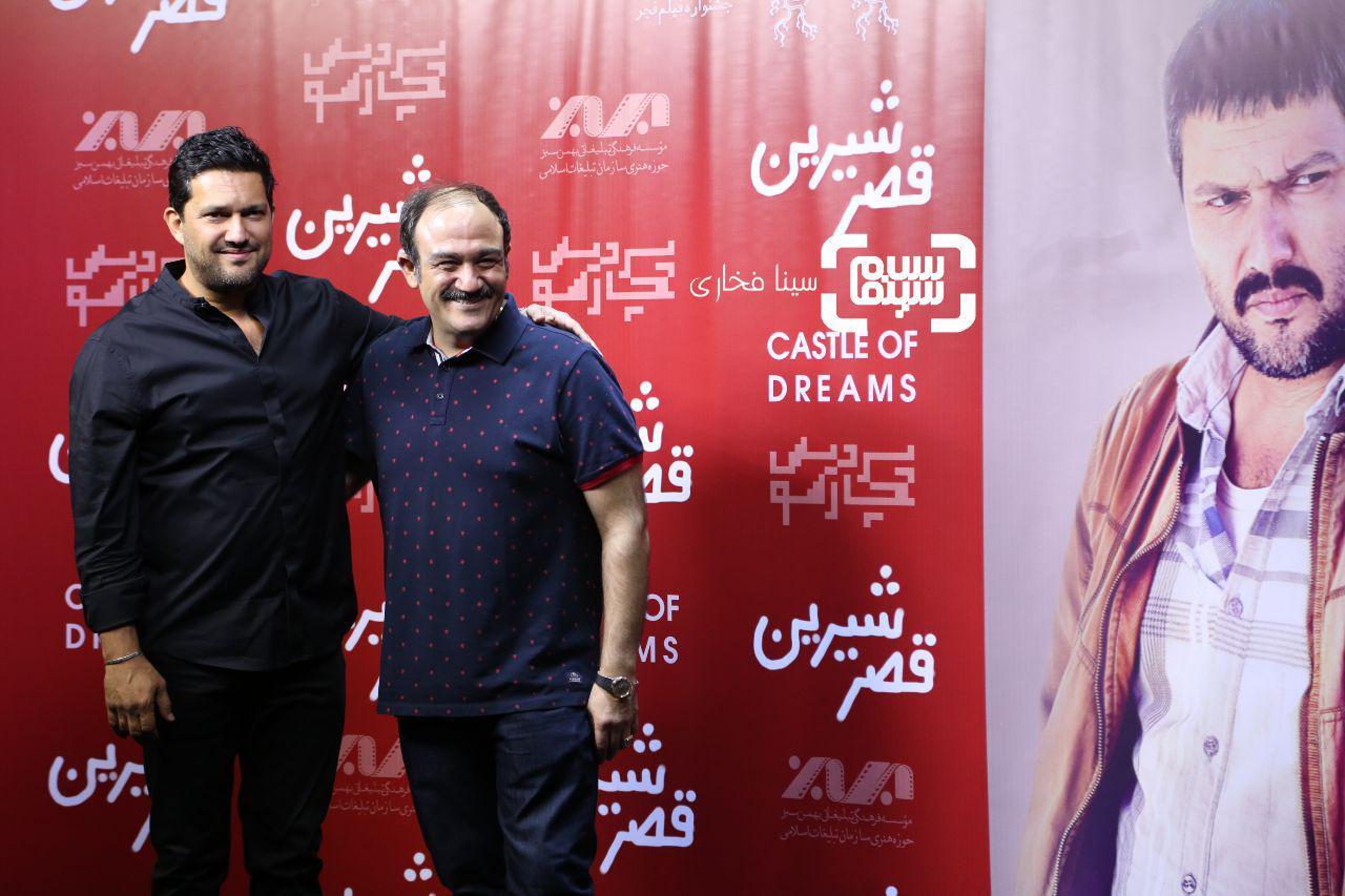 عکس مهران غفوریان و حامد بهداد در اکران خصوصی فیلم «قصر شیرین»