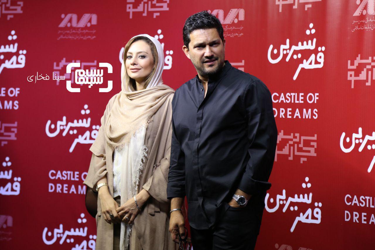 عکس یکتا ناصر و حامد بهداد در اکران خصوصی فیلم «قصر شیرین»