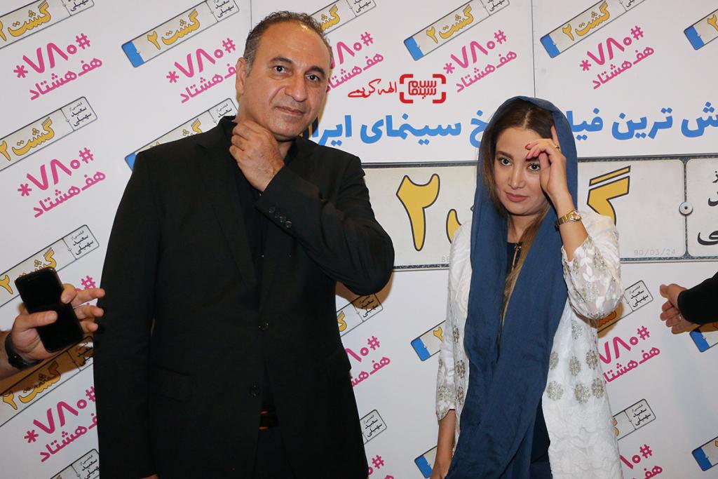 حمید فرخ نژاد و بهاره افشاری در اکران مردمی «گشت 2» در سینما مگامال/ گزارش تصویری