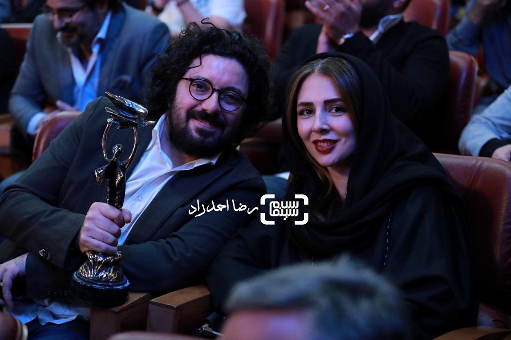 هومن بهمنش و همسرش/ بیست و یکمین جشن خانه سینما/ گزارش تصویری 1