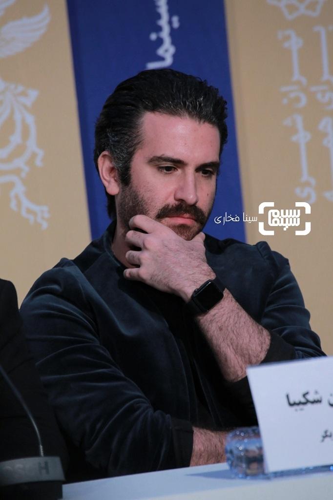 هوتن شکیبا - نشست خبری «عامه پسند» در جشنواره فجر 38