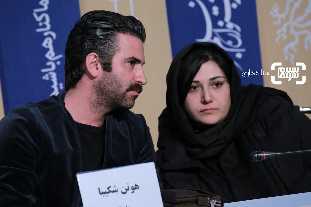 هوتن شکیبا - باران کوثری - نشست خبری فیلم «عامه پسند» در جشنواره فیلم فجر 38