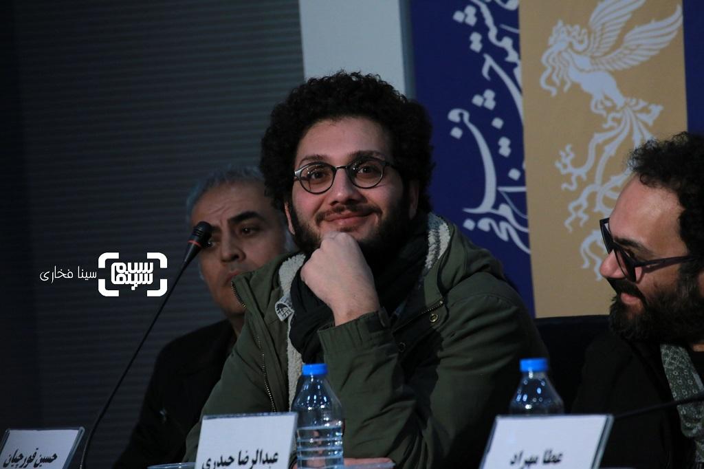 حسین قورچیان - نشست خبری فیلم «قصیده گاو سفید» در جشنواره فجر 38