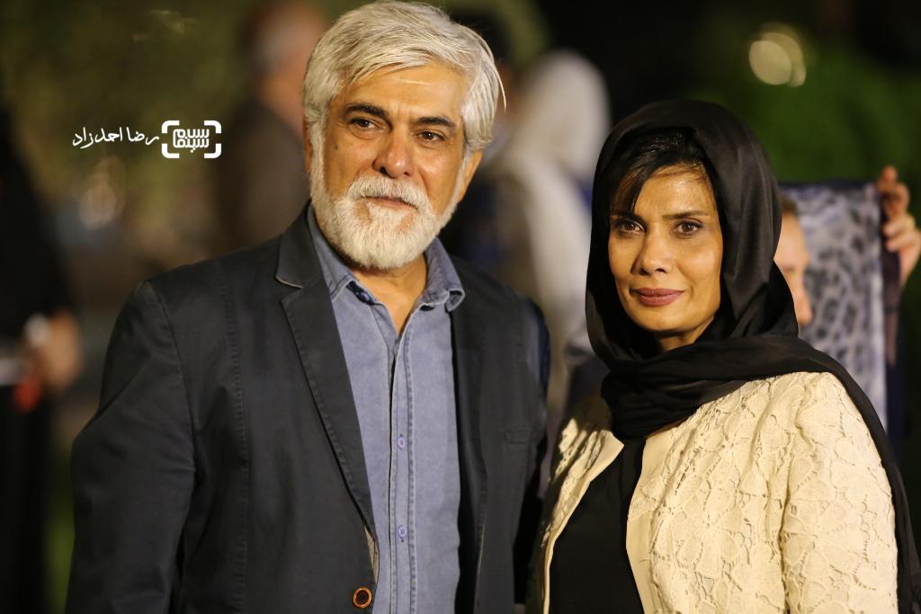 عاطفه رضوی و همسرش حسین پاکدل در اکران «آی آدم ها»
