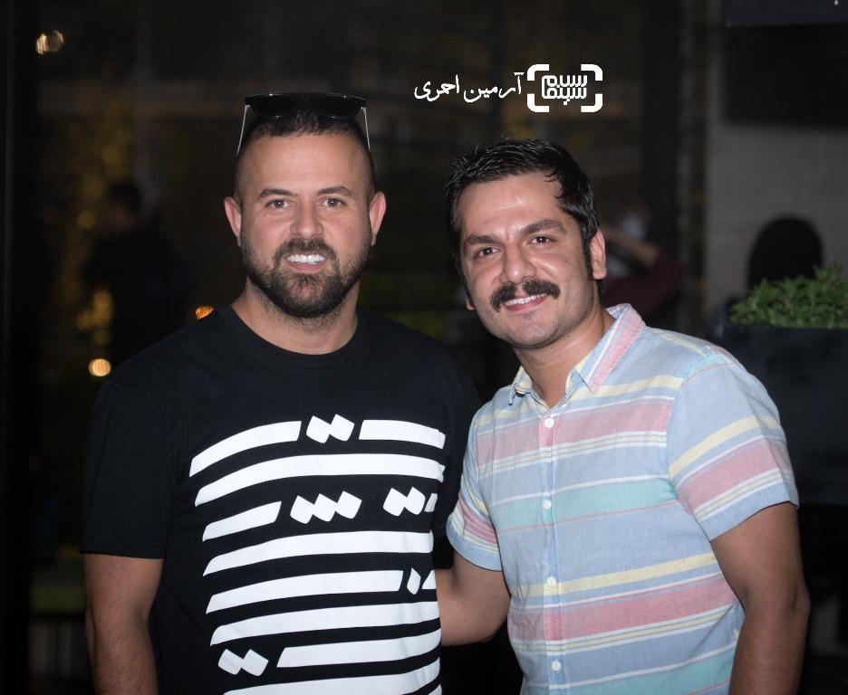 عباس غزالی و هومن سیدی در مراسم تقدیر حمید نعمت الله