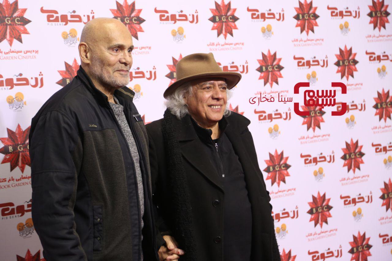 سیروس الوندوجمشید هاشم پوردر اکران خصوصی فیلم «ژن خوک»