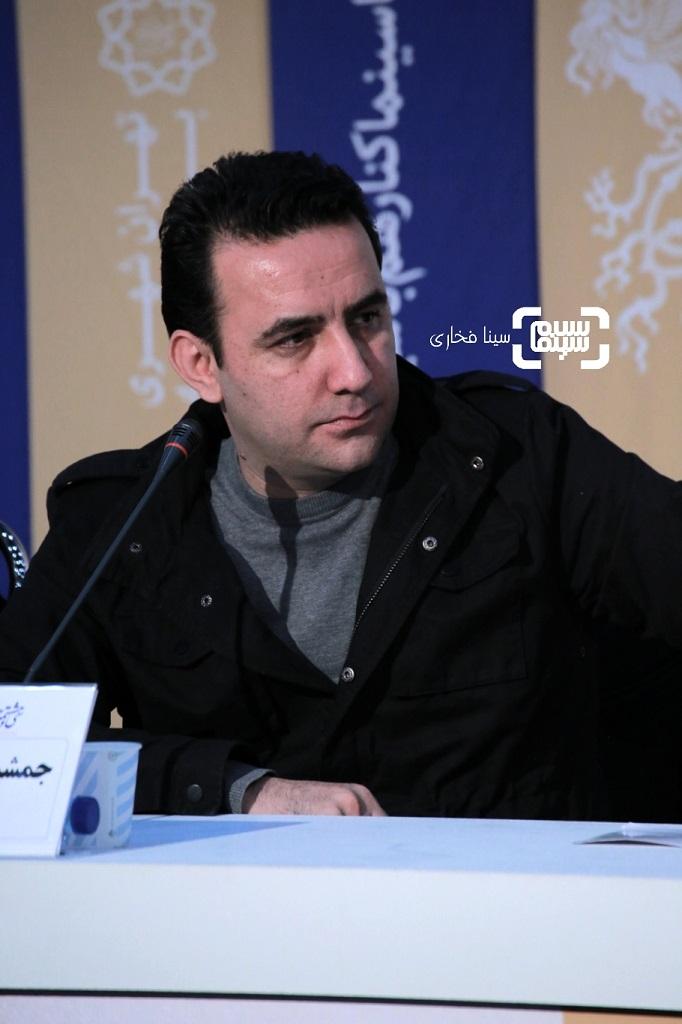 جمشید محمودی - گزارش تصویری - نشست خبری فیلم «مردن در آب مطهر» - جشنواره فیلم فجر 38