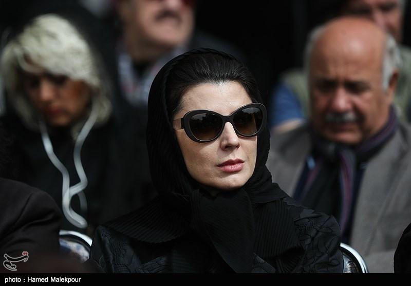 لیلا حاتمی - گزارش تصویری مراسم تشییع پیکر جمشید مشایخی