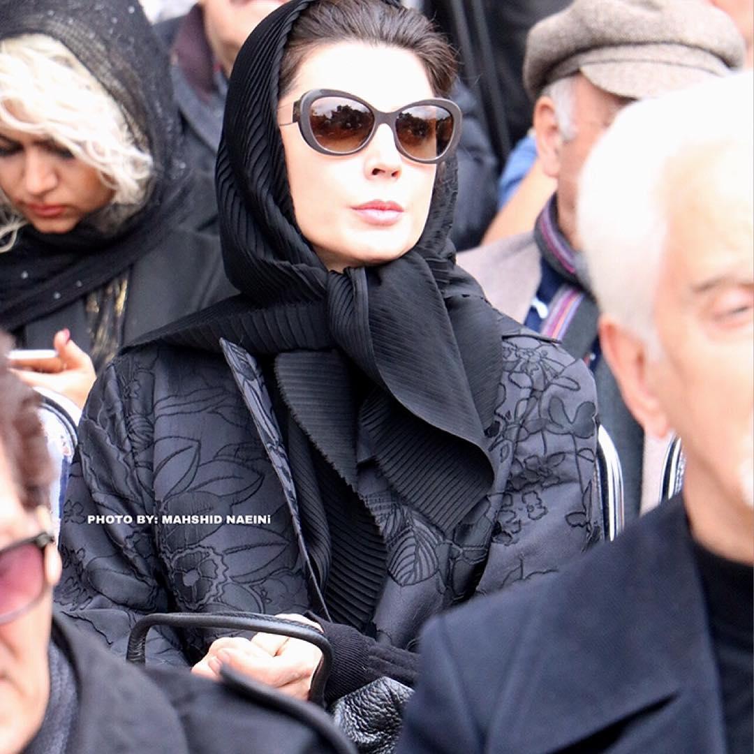 لیلا حاتمی بازیگر - گزارش تصویری مراسم تشییع پیکر جمشید مشایخی