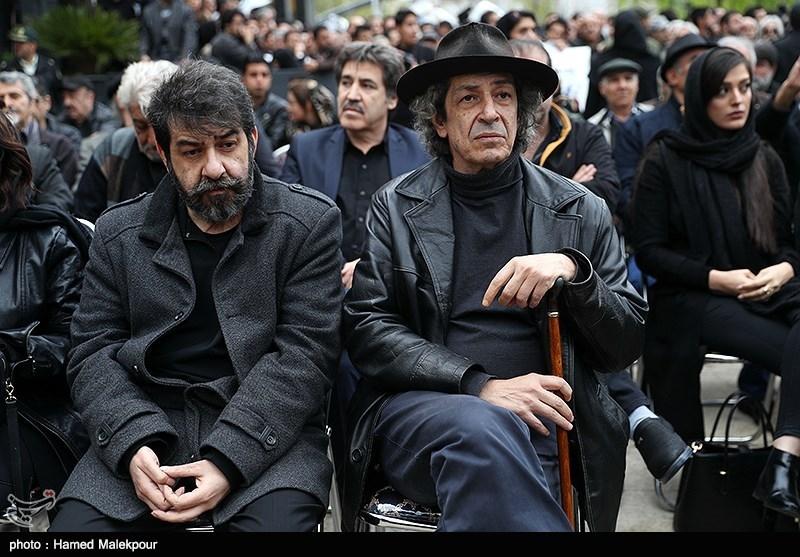 سام و نادر مشایخی - گزارش تصویری مراسم تشییع جمشید مشایخی