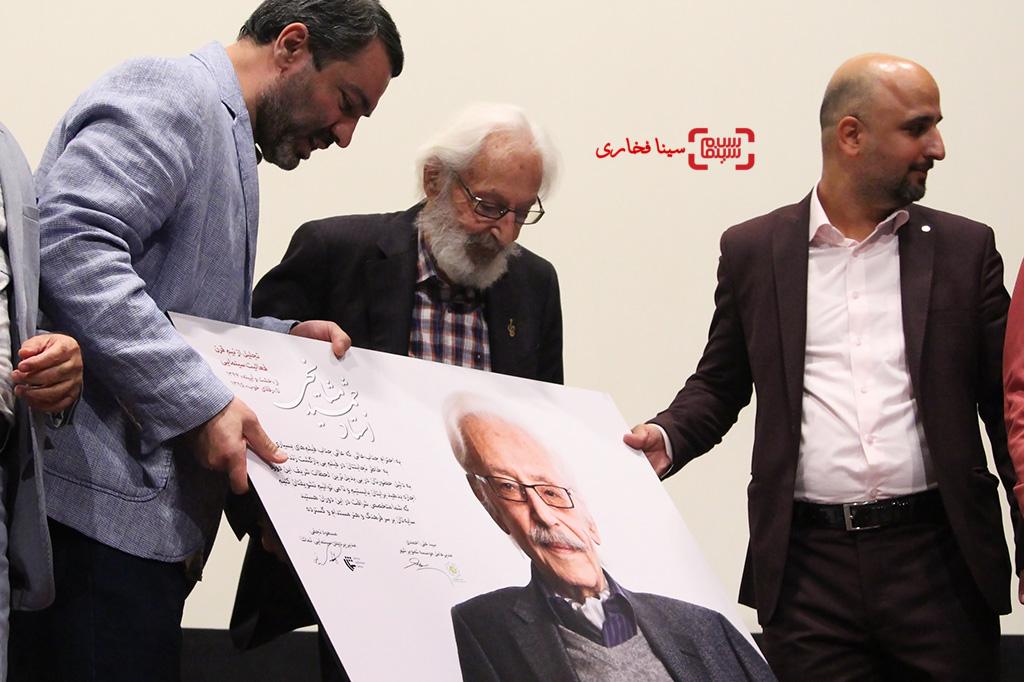مراسم تجلیل از نیم قرن فعالیت هنری جمشید مشایخی مسعود نجفی