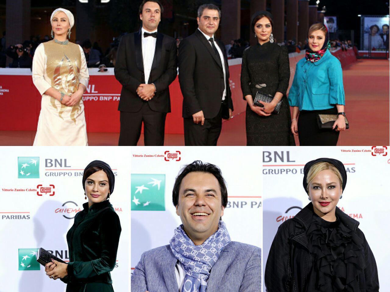 آنا نعمتی، مارال فرجاد و مهدی فرد قادری در جشنواره فیلم رم