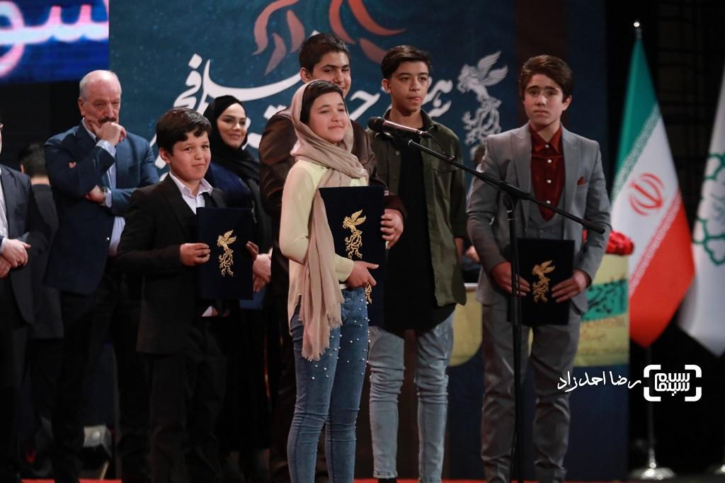 بازیگران خورشید - گزارش تصویری - اختتامیه جشنواره فیلم فجر 38(بخش اول)