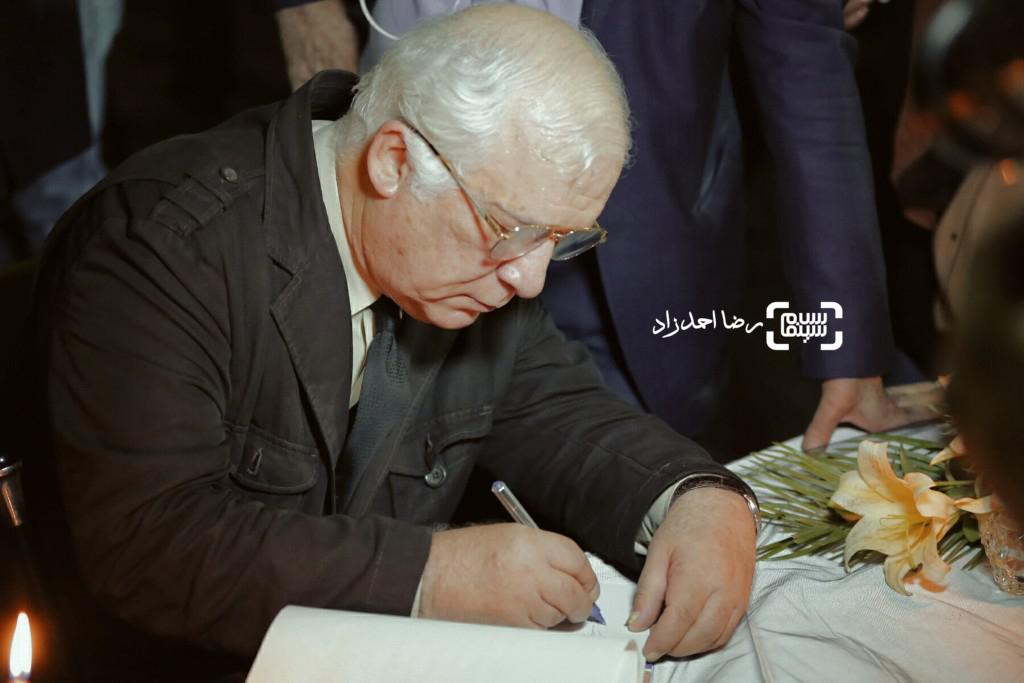 خسرو سینایی در مراسم یادبود عباس کیارستمی