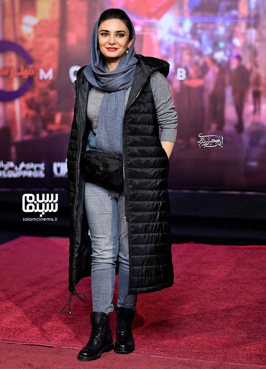 لیندا کیانی - اکران خصوصی فیلم مطرب - سینما چارسو
