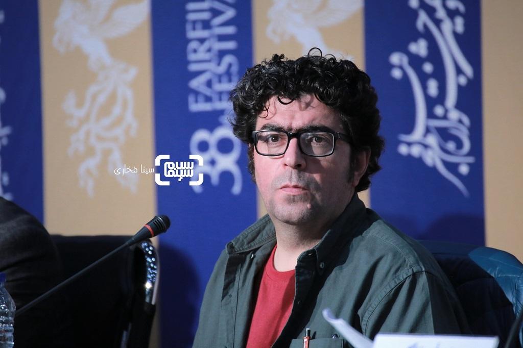 مجید برزگر - گزارش تصویری - نشست خبری فیلم «دشمنان» - جشنواره فیلم فجر 38