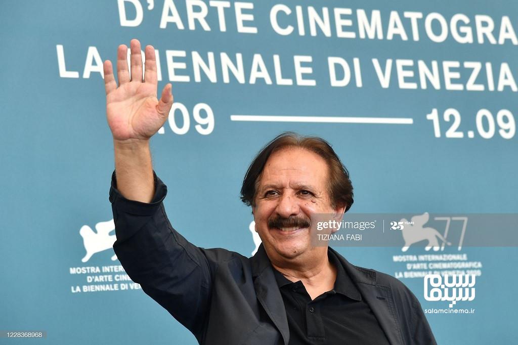 مجید مجیدی در فوتوکال فیلم خورشید در جشنواره فیلم ونیز