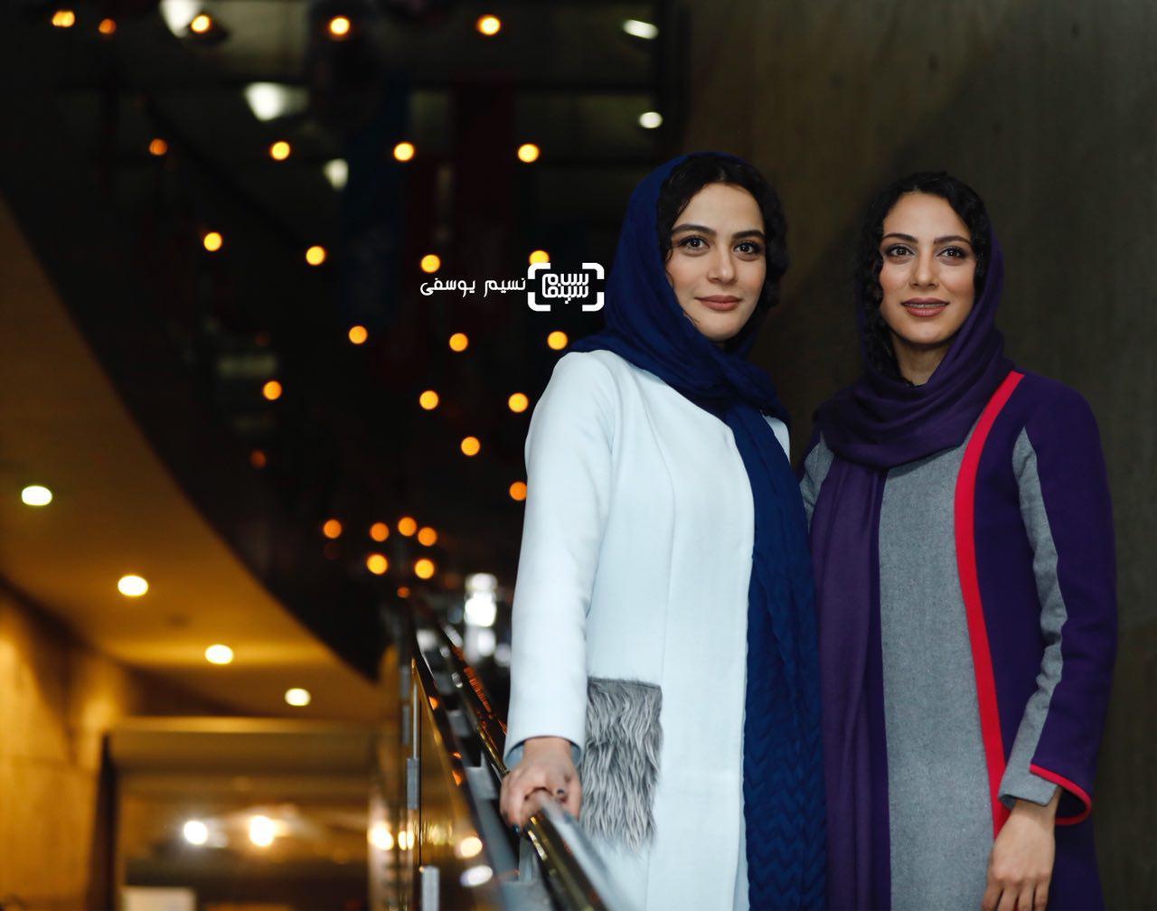 مونا فرجاد و مارال فرجاد در اکران فیلم «ماهورا» در سی و ششمین جشنواره فیلم فجر