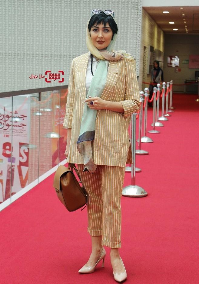 عکس مریم معصومی در روز دوم سی و هفتمین جشنواره جهانی فیلم فجر