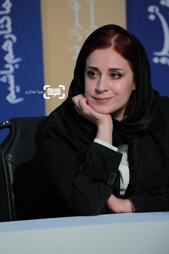 مریم مقدم - نشست خبری «قصیده گاو سفید» در جشنواره فجر 38