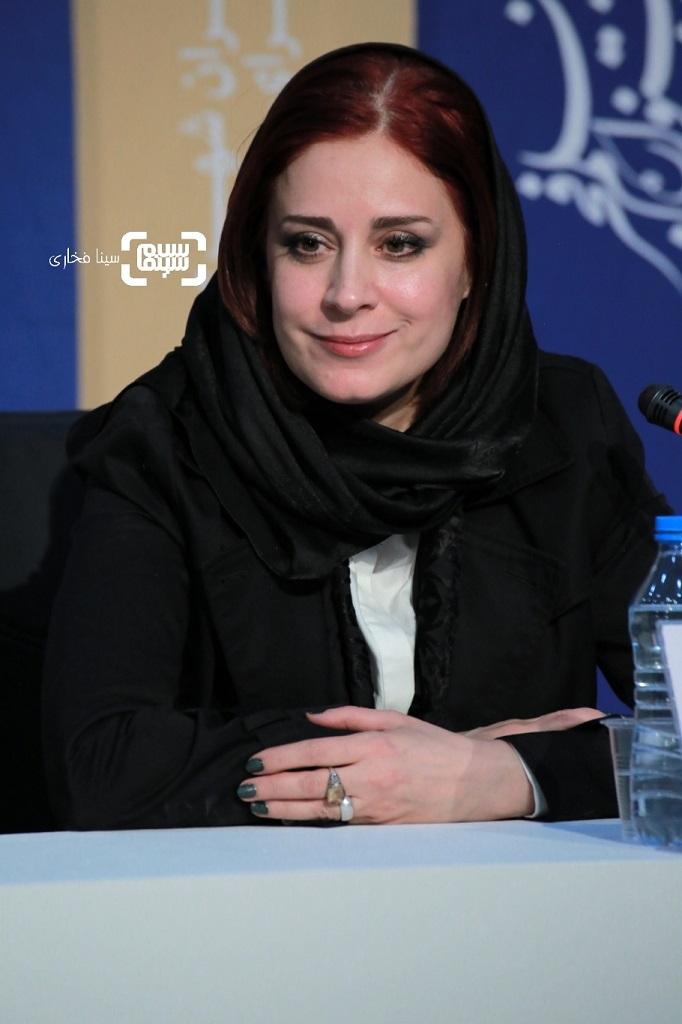 مریم مقدم - نشست خبری فیلم «قصیده گاو سفید» در جشنواره فجر 38