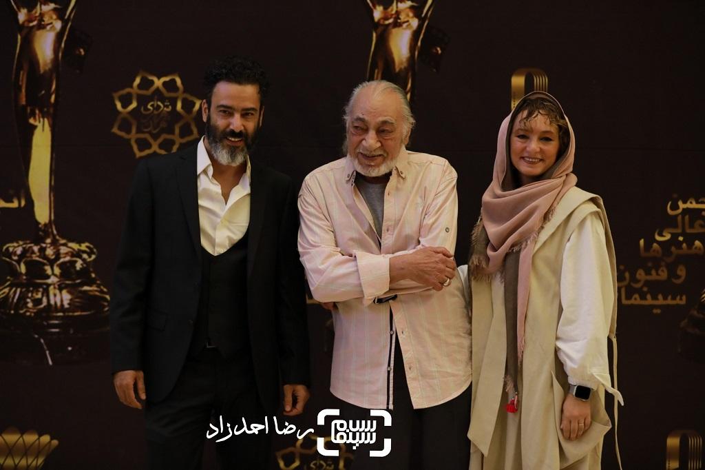 سحر ولدبیگی و پدرش مسعود ولدبیگی و همسرش نیما فلاح/ جشن خانه سینما/ گزارش تصویری 2