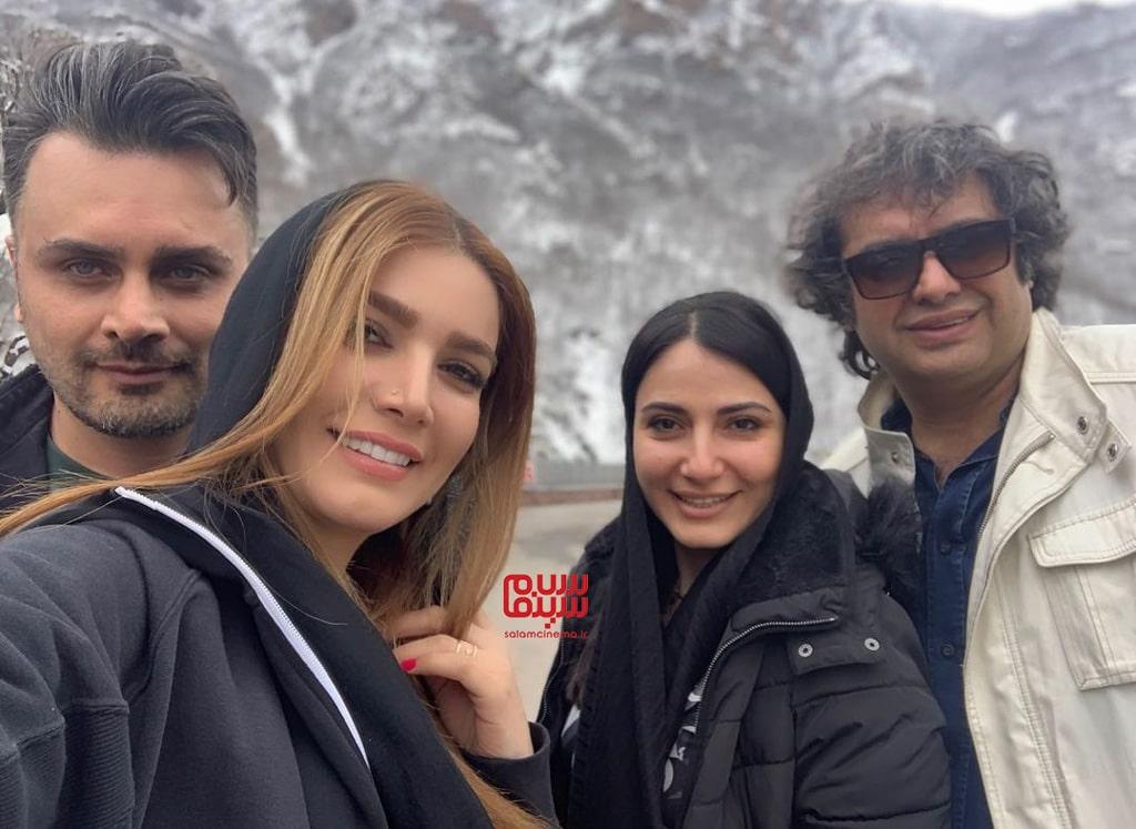 متین ستوده و همسرش - سامان سالور و سمیرا حسن پور
