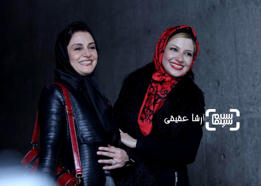 مریلا زارعی و خواهرش ملیکا زارعی در اکران فیلم «سوءتفاهم» در کاخ رسانه سی و ششمین جشنواره فیلم فجر