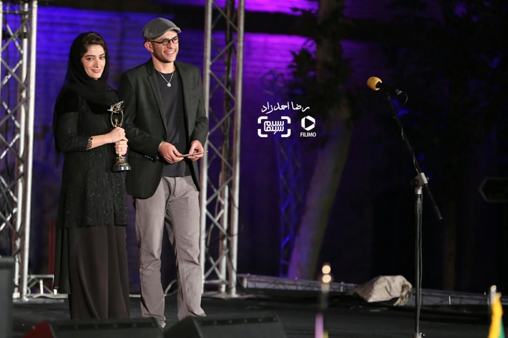 بابک حمیدیان و همسرش مینا ساداتی در هجدمین جشن خانه سینما
