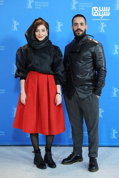 مهتاب ثروتی - محمد ولی زادگان - فتوکال فیلم «شیطان وجود ندارد» در جشنواره برلین